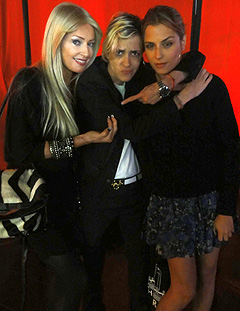 Christian with Sam and Charlotte Ronson